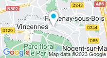 Plan Carte Spa Océane à Vincennes