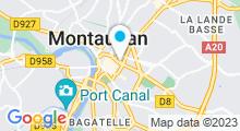 Plan Carte Institut Guinot à Montauban