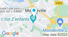 Plan Carte Spa urbain Passage Bleu à Mondeville