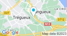 Plan Carte Spa urbain Passage Bleu à Tregueux