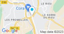 Plan Carte Spa urbain Passage Bleu à Alès