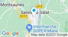 Plan Carte Thermes à Salies-du-Salat
