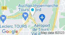 Plan Carte Spa urbain Passage Bleu à Tours