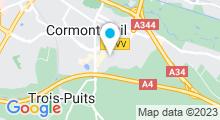 Plan Carte Spa urbain Passage Bleu à Cormontreuil