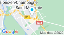 Plan Carte Spa urbain Passage bleu à Saint-Memmie