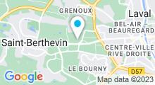 Plan Carte Spa urbain Passage Bleu à Saint Berthevin