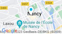 Plan Carte Spa urbain Passage Bleu à Nancy Centre