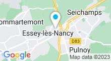 Plan Carte Spa urbain Passage Bleu à Essey-lès-Nancy