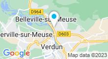 Plan Carte Spa urbain Passage Bleu à Belleville-sur-Meuse
