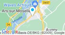 Plan Carte Spa urbain Passage Bleu à Jouy aux Arches