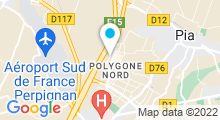 Plan Carte Spa urbain Passage Bleu à Perpignan