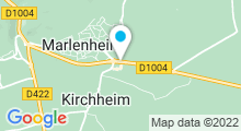 Plan Carte Spa urbain Passage Bleu à Marlenheim