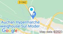 Plan Carte Spa urbain Passage Bleu à Schweighouse