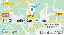 Plan Carte Spa urbain Passage Bleu à La Chapelle-Saint-Aubin