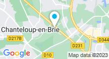 Plan Carte Spa urbain Passage Bleu à Montévrain