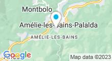Plan Carte Thermes à Amélie-les-Bains-Palalda
