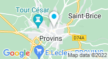 Plan Carte Spa urbain Passage Bleu à Provins