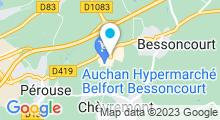 Plan Carte Spa urbain Passage Bleu à Bessoncourt