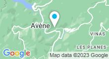 Plan Carte Thermes à Avène-les-Bains