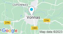 Plan Carte Spa Le Village Blanc à Vonnas