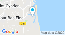 Plan Carte Centre de thalasso & spa Île de la Lagune à Saint-Cyprien