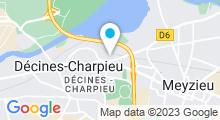 Plan Carte Hammam & spa La Magie d'Orient à Décines-Charpieu