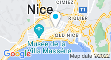 Plan Carte Oceanide Spa à Nice