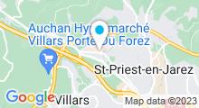 Plan Carte Le Spa à Saint-Priest-en-Jarez