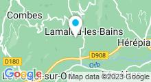 Plan Carte Thermes à Lamalou-Les-Bains