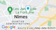 Plan Carte Hammam El Yasmine à Nîmes