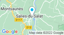 Plan Carte Salinea Spa à Salies-du-Salat