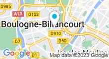 Plan Carte Centre d'aquabike Aquaveleau à Boulogne Billancourt