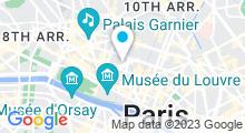 Plan Carte Centre aquabike l'Atelier Mood à Paris (2ème)