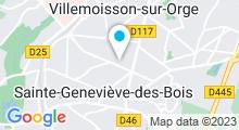 Plan Carte Maeva Beauté à Ste Geneviève des Bois