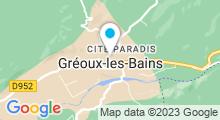Plan Carte Thermes à Gréoux-les-Bains