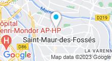 Plan Carte Centre Waterbike à Saint-Maur-des-Fossés
