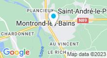 """Plan Carte Thermes """"Les Iléades"""" à Montrond-les-Bains"""