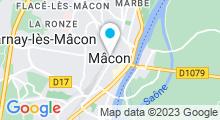 Plan Carte Institut Ophélie à Mâcon