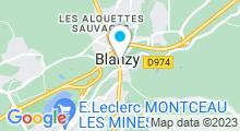 Plan Carte Bel'Océane à Blanzy