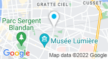 Plan Carte Centre aquabike & spa Ligne et Détente à Lyon
