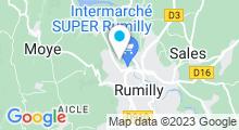 Plan Carte Centre aquabike Roosevelt à Rumilly