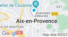 Plan Carte Thermes à Aix en Provence