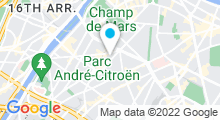 Plan Carte Centre aquabike Beauty Bike à Paris (15ème)