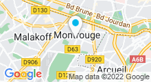 Plan Carte Envido à Montrouge
