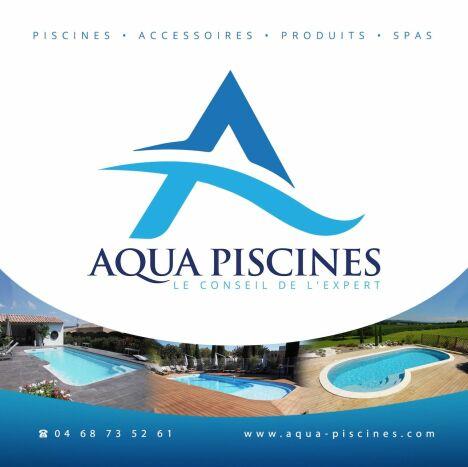 logo aqua piscines piscines  beton perpignan