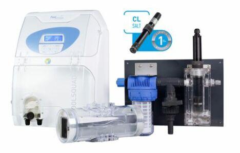 Pour un traitement encore plus précis, l'électrolyseur POOLSQUAD AMPERO® régule automatiquement la production de désinfectant grâce à sa sonde ampérométrique