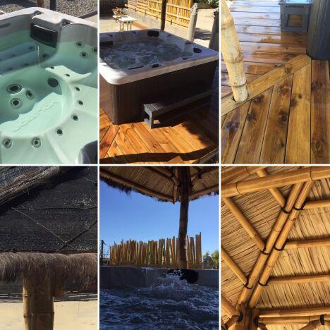 Espace SPA avec abri ORI en bambous