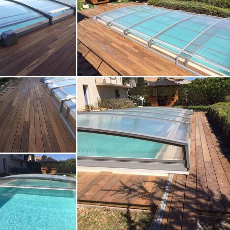 Abris piscines amovibles en aluminium thermolaqué