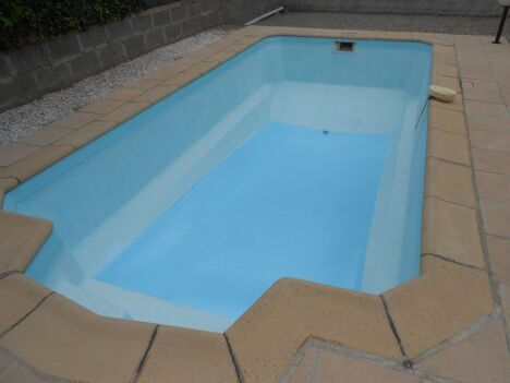 rénovation du fond de la piscine