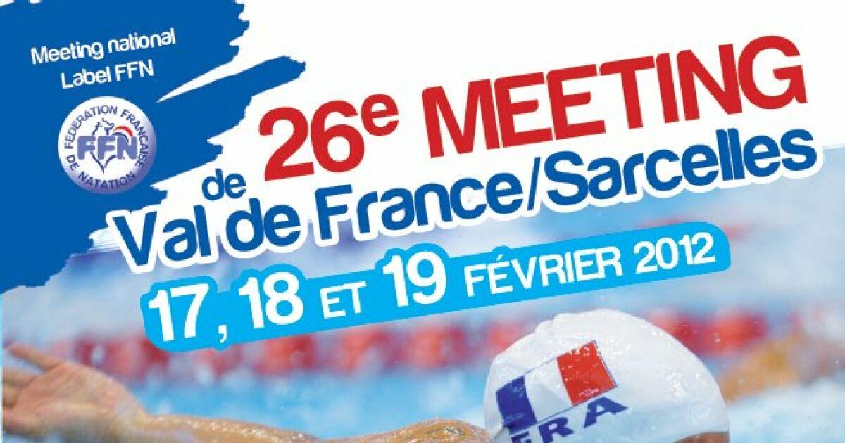 17 18 et 19 f vrier meeting national de natation val de for Piscine sarcelles